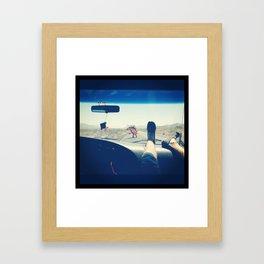 Escape Dino Framed Art Print