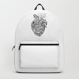 Steampunk Heart Valentine Gift Idea Heart Doctor Backpack