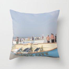 Atlantic City Lifeboats Throw Pillow