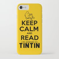 tintin iPhone & iPod Cases featuring Keep Calm and Read Tintin by Rafstar Designs