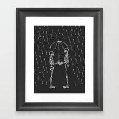 Raining Bone Framed Art Print