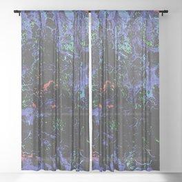 Purple Webbed Fog Sheer Curtain