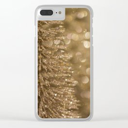 Golden Christmas Gliter Tree Decoration Clear iPhone Case