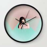 ultraviolence Wall Clocks featuring cola by evenstarss