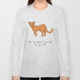 Busy Cat Long Sleeve T-shirt