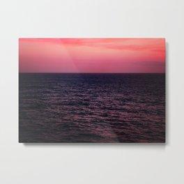 Pretty Pink Sunset Metal Print