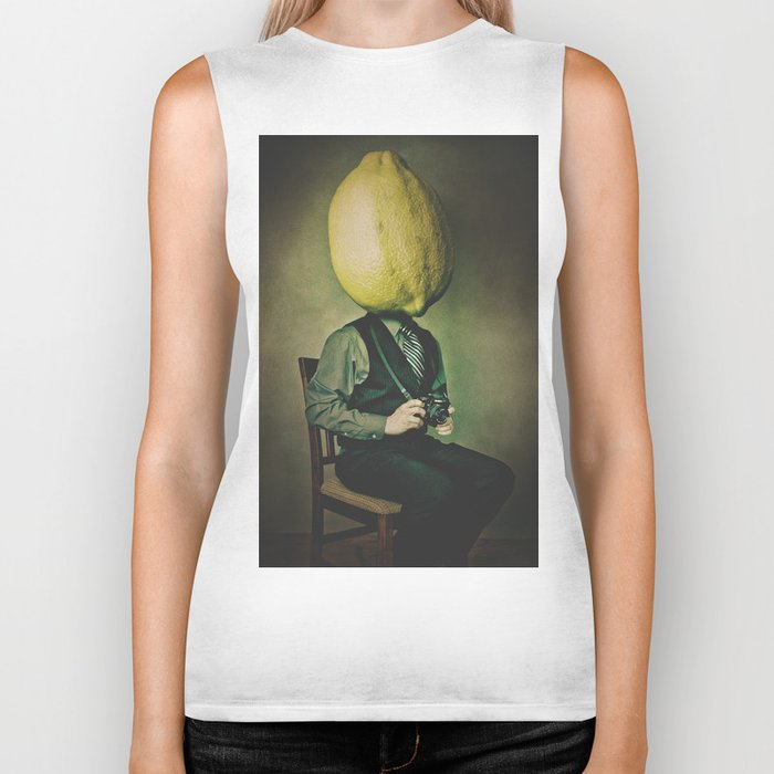 Lemonhead Photographer Portrait Biker Tank