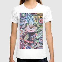 Abstract Cat Art - Penny T-shirt