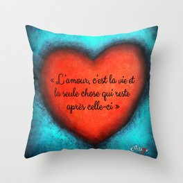 L'Amour by Artémo Throw Pillow