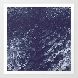 Indigo Waters Art Print