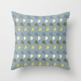 Vintage leaves grey Throw Pillow