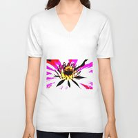 montana V-neck T-shirts featuring Montana  by Time After Time