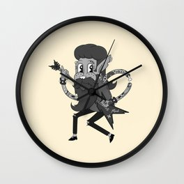 Retro Rock Lad Wall Clock