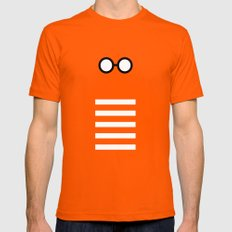 Where's Waldo Minimalism SMALL Orange Mens Fitted Tee