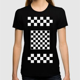 Vintage Chessboard & Checkers - Black & White T-shirt