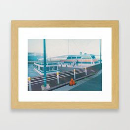 Vermilion port - Kanto in real life Framed Art Print