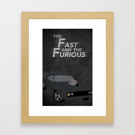 The Fast and the Furious Movie Poster Version II Framed Art Print