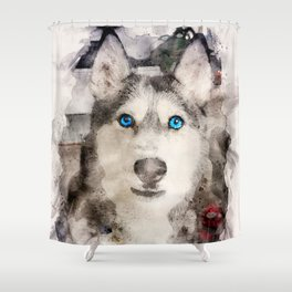 Tika'ani our Siberian Husky Shower Curtain