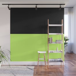 Lime And Black Block Wall Mural