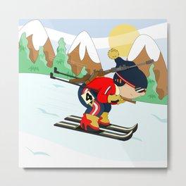 Winter Sports: Biathlon Metal Print