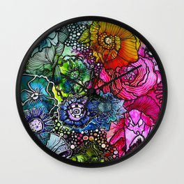 Abstract Floral 2 Wall Clock
