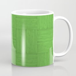 Green Faux Bois Wood Pattern Coffee Mug