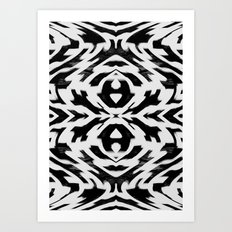 Arrow Tribe Black & White Art Print