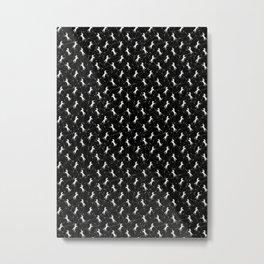 Constelación Pegaso Blanco Metal Print