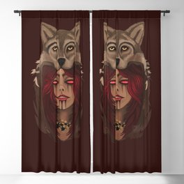 Wolf Woman Blackout Curtain