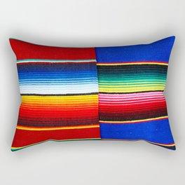 Colorful serape stripes Rectangular Pillow