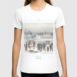 Paris art print Paris Decor office decoration vintage decor SIEGE & BASTION of Paris T-shirt