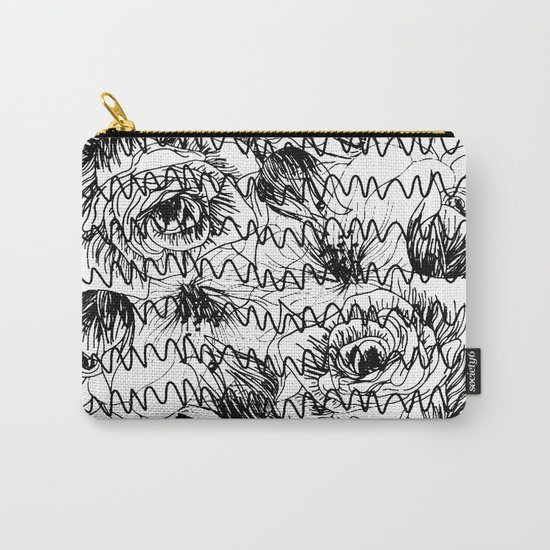 Floral graftti Carry-All Pouch