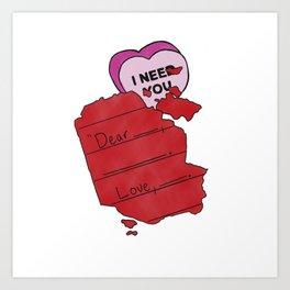 Forgotten Love Letters Art Print