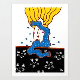DEEP SLEEP DIVING #2 Art Print