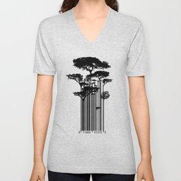 Barcode Trees illustration  Unisex V-Neck