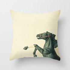 The Black Horse Throw Pillow