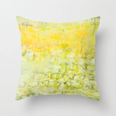 yellow greens Throw Pillow