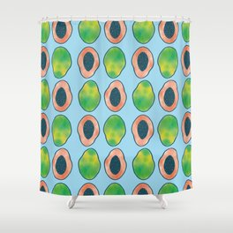 blue papaya Shower Curtain