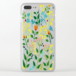 All you need is flowers Clear iPhone Case