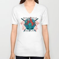 oriental V-neck T-shirts featuring Oriental by Tshirt-Factory