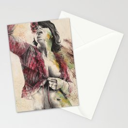 The Divine   autumn goddess erotic nude portrait Stationery Cards