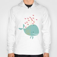 the whale Hoodies featuring Whale by Zen and Chic