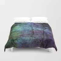 cracked Duvet Covers featuring cracked Earth by helsch photography