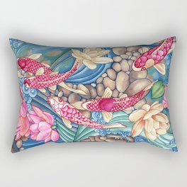 Koi Pond Rectangular Pillow