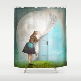 Secret Entrance Shower Curtain