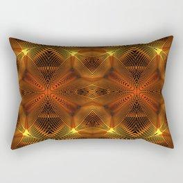 Golden Thread Rectangular Pillow