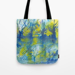 By the lake watercolor Tote Bag