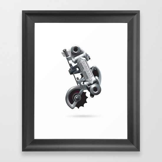 Nuvo Record Rear Derailleur Framed Art Print
