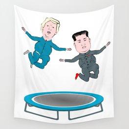 Trump and Kim Jong Un Wall Tapestry