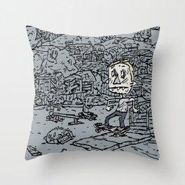 Manual pad Throw Pillow